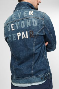 Shop for Amsterdam Jacket - NBR at DENHAM. See all the styles and colours of Amsterdam Jacket - NBR at the official online shop. Denim Jacket Patches, Denim Shirt Men, Denim Jacket Men, Patched Jeans, Skinny Fit Jeans, Jacket Style, Denim Fashion, Casual Shirts For Men, Outerwear Jackets