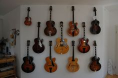 Related image Guitar Wall, Music Library, Violin, Guitars, Music Instruments, Image, Furniture, Musical Instruments, Home Furnishings