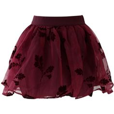 Chicwish Wine Red Beloved Organza and Crepe Skort (63 BAM) ❤ liked on Polyvore featuring skirts, mini skirts, bottoms, saias, faldas, red, red tutu, short skirts, elastic waist skirt and layered tutu skirt