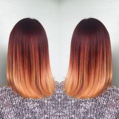 Картинки по запросу омбре на короткие волосы рыжий