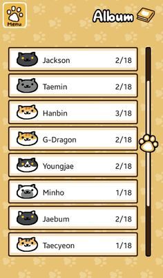 When you name your Neko Atsume cats after idols. ㅋㅋㅋㅋㅋ!