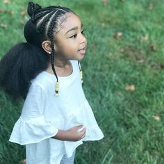 Little Girl Braid Styles Little Girl Braids, Braids For Kids, Girls Braids, Children Braids, Natural Hairstyles For Kids, Kids Braided Hairstyles, Trendy Hairstyles, Female Hairstyles, Hairstyles Pictures