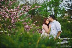 Such a beautiful Spring engagement session. Loved these pink blossoms!  lori romney photography