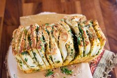Herb butter cheese pullapart bread