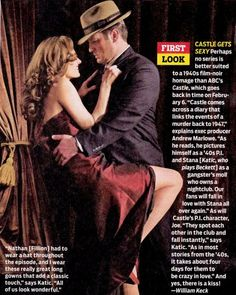 images of look picture of the upcoming castle 1940 s noir episode wallpaper Castle Tv Series, Castle Tv Shows, Castle 2009, Castle Season, Castle Beckett, Tv Guide, Stana Katic, Wedding Humor, Season 4