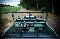 Driver point of view in Land Rover Series IIa