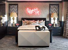 Kourtney Kardashian's master bedroom designed by Jeff Andrews