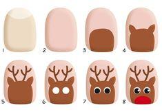 [ Mode n°10 ] : Manucure Renne ! Comment faire un renne de Noël en nail art