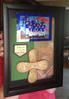 """""""Thank You"""" plaque we made for our baseball coaches."""