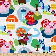 Farm Animal Farm Multi  ||  fabric.com