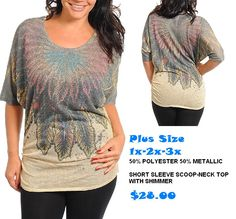 sale Feathers - PLUS Top #shopClassyNsassy  Www.ClassyNsassyCreations.com