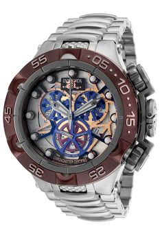 Invicta Men's Subaqua Chronograph Multicolored Skeletonized Dial Stainless SteelInvicta 13739 Watch
