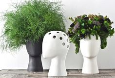 Wig Head Vase Can Hold Not Just Flowers But Also Toupees
