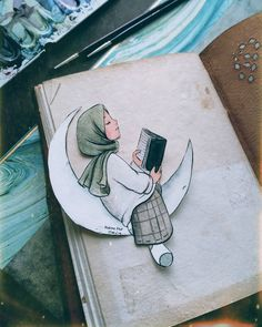 The fastest accepted prayer is the believer's prayer … 🌿 Let's pray then … :) # sulubayayadüşüş # illustration … - Site Today Hijab Drawing, Islamic Cartoon, Anime Muslim, Hijab Cartoon, Islamic Girl, 3d Drawings, Cute Illustration, Art Sketchbook, Cute Wallpapers