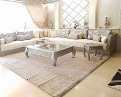 Image may contain: living room, table and indoor Kids Bedroom Designs, Living Room Designs, Living Room Decor, Sofa Design, Interior Design, Classic Living Room, Moroccan Decor, Furniture Plans, Home Decor Inspiration