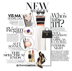 """""""Untitled #224"""" by belleforcible on Polyvore featuring Anja, TIBI, Ted Baker, Ray-Ban, Christian Louboutin, Gucci, Sisley, Chanel, Bobbi Brown Cosmetics and Marc Jacobs"""