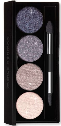 This limited edition eye palette contains unique, versatile glitter shades that can be applied damp or dry, and layer beautifully with other shadows. Available in 4 sparkling shades: White Quartz, Moonstone, Smoky Quartz and Purple Sapphire. Includes dual-ended applicator (paddle and taper-shaped).