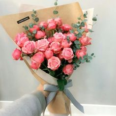 It's a beautiful day with gorgeous flowers. Beautiful Bouquet Of Flowers, All Flowers, Beautiful Flowers, Diy Bouquet, Rose Bouquet, Boquet, Fleur Orange, Orange Yellow, Pink White
