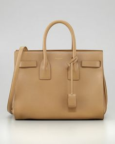 Sac du Jour Small Carryall Bag, Beige by Saint Laurent at Bergdorf Goodman.
