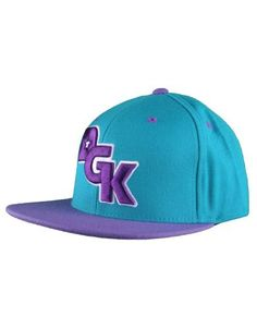 DGK Stagger Teal and Purple Hat
