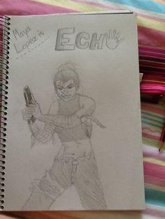 My drawing of my favourite marvel superhero, Echo (Maya Lopez) By Bianca Weasley