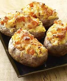 Cartofi umpluti cu piept de pui