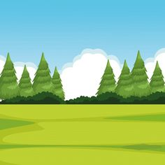 Forest landscape with pine Free Vector | Free Vector #Freepik #freevector #freetree #freewood #freesummer #freeleaf