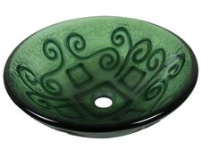 Glass Vessel Sinks | From Just $65-Green Textured Glass Sink