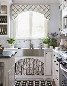 Kitchen Valance Scalloped Cornice Valence Custom Fabric Window