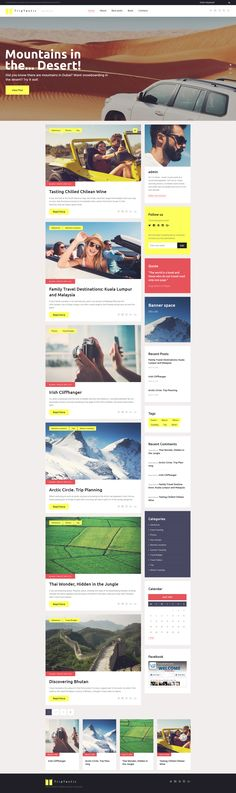 WordPress Theme , TripTastic - Travel Blog