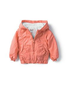 peach raincoat
