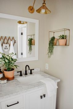 This modern boho bathroom remodel was definitely one for the books. Deciding to demo right before a deployment on top of being 6 months pregnant. The modern boho design is great for a guest bathroom and fun enough for a children's bathroom. Home Renovation, Home Remodeling, Bathroom Remodeling, Modern Boho Bathroom, Modern Bathrooms, Modern Bedroom, Childrens Bathroom, Design Apartment, Modern Apartment Decor