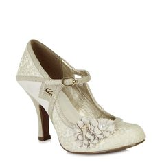 Enjoy your special day in style with glittering brocade bar shoe Yasmin.