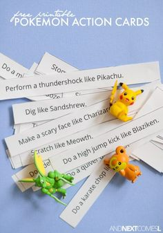 Pokemon Action Cards - Are you a fan of Pokemon Go? Take a look at these Pokemon Party Ideas for the biggest fan in your home on Frugal Coupon Living.... gotta catch them all! Boy party ideas.
