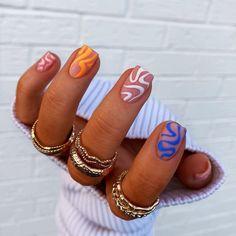 Chic Nails, Stylish Nails, Trendy Nails, Swag Nails, Nail Design Stiletto, Nail Design Glitter, Bright Nails, Funky Nails, Funky Nail Art