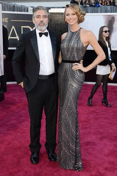 George Clooney and Stacy Keibler in Naeem Khan