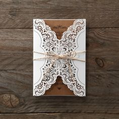 Beautiful Country Glamour Invite