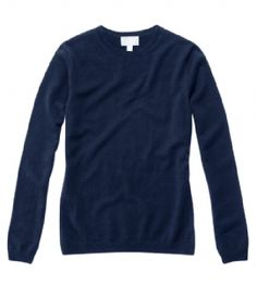 Pure Collection Cashmere Round Neck Sweater in Navy All Star, Cashmere, Pure Products, Navy, Stars, Classic, Long Sleeve, Sleeves, Sweaters