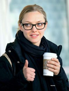 Davis Vision - Thumbs up to Amanda Seyfried's chic frames. #eyeglasses