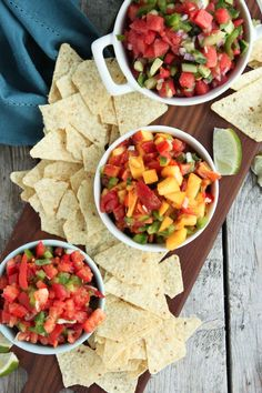 Fresh vegetables out of the garden paired with summers best fruit makes the best salsa. Let me show you how to make homemade salsa three ways.