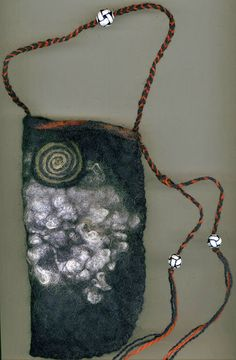 Just saying .. Love it : Andromeda  wet felted bag by ThistleWoolworks on Etsy, $80.00