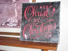 Keep Christ in Christmas Wall Plaque Hangingwood/ by hilltopprims