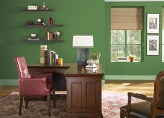 This is the project I created on Behr.com. I used these colors: MOSSY GREEN(S-H-430),BRIQUETTE(190D-7),DESERT CACTUS(440D-4),BEACH WHITE(W-D-420),