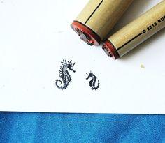 Conjunto de sello de goma de caballito de mar