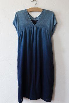 arigato blue blue japan blue jacquard gradient dress
