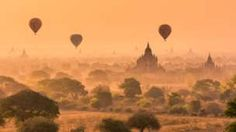 Balloons over the landscape