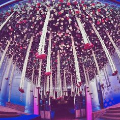 Awe Inspiring! Walkway into a beautiful wedding .Amazing Floral Wedding Decor by 3Production Wedding Planners bangalore