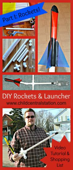 DIY PVC Pipe Rocket Launcher and File Folder Rockets Part I: Rockets! | Child Central Station - Great Inexpensive Fun!