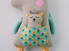 Deer with baby. Sewing pattern PDF