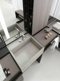 Agatha O I Art and Design: Vincent van Duysen, meubilair en ontwerpen Bathroom Spa, Bathroom Toilets, Modern Bathroom, Small Bathroom, Washroom, Taupe Bathroom, Bathroom Basin, Wood Bathroom, Grey Bathrooms